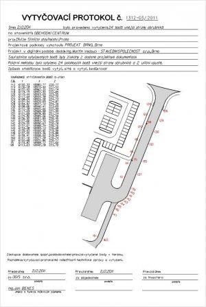 Vytyčení stavebních objektů - komunikace