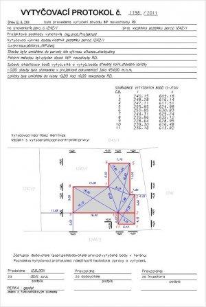 Vytyčení stavebních objektů - RD